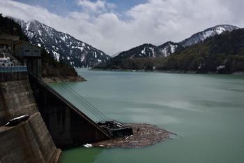 DSC_3304堰堤から見た黒四の眺め.JPG