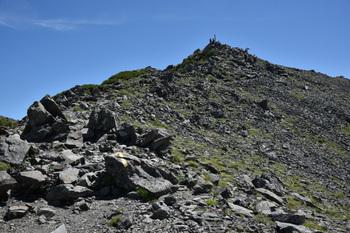 _DSC_9649_01間ノ岳頂上を見上げる.JPG